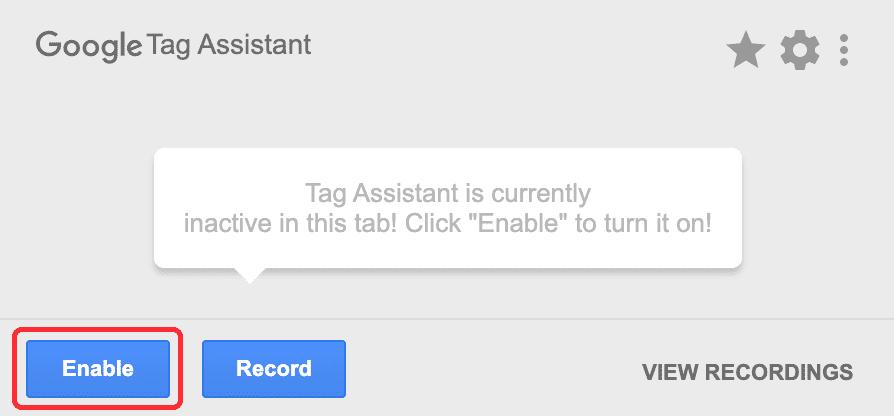 enableをクリック