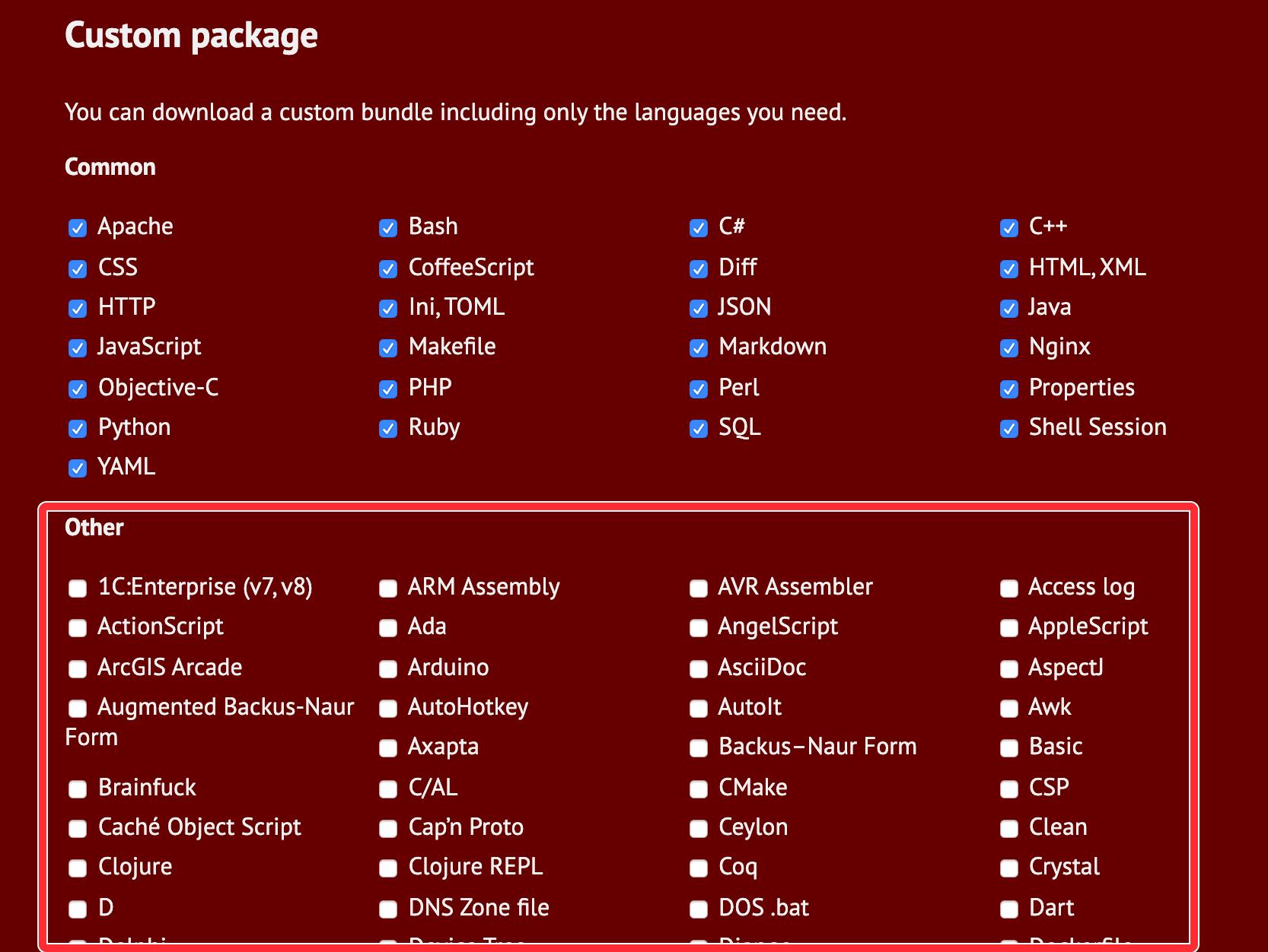 ダウンロード版言語を選択