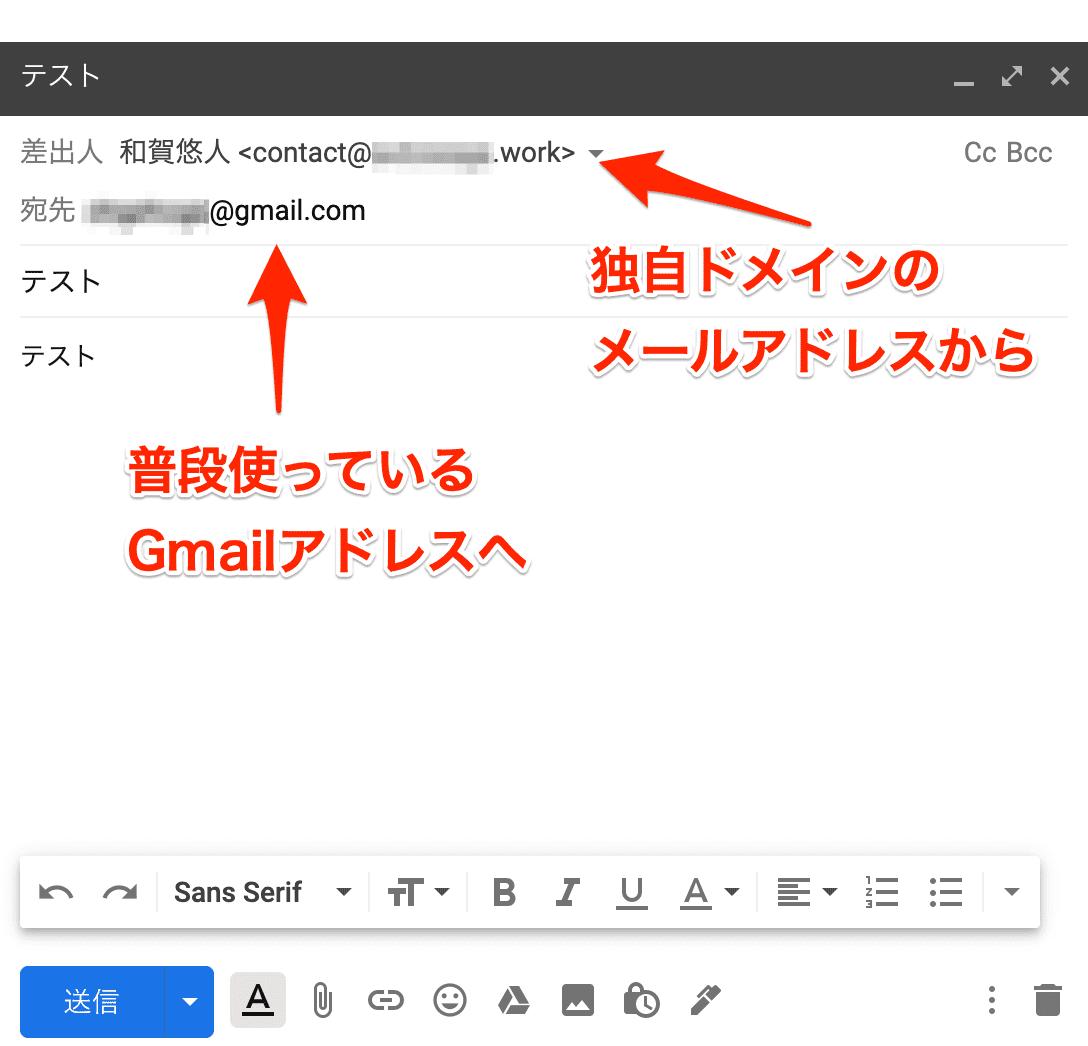 テストメール(送信)