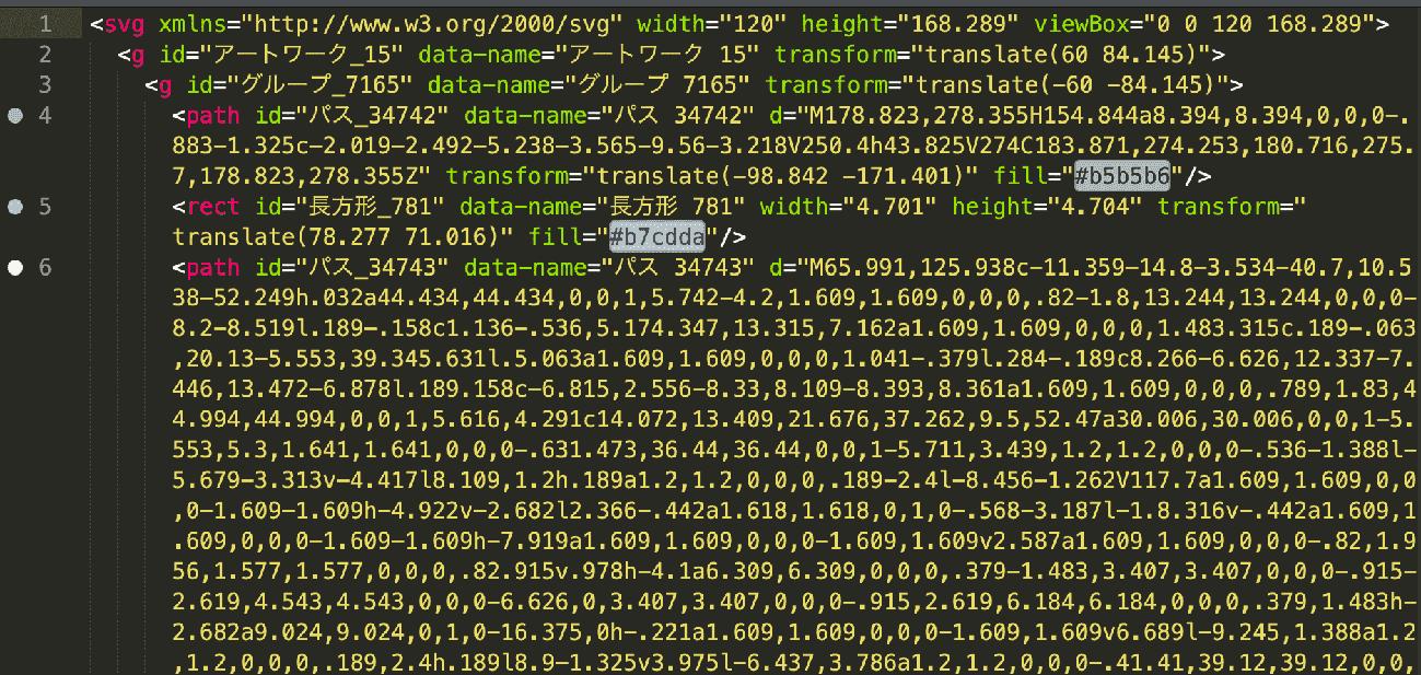 gulp-imagemin svg画像圧縮前