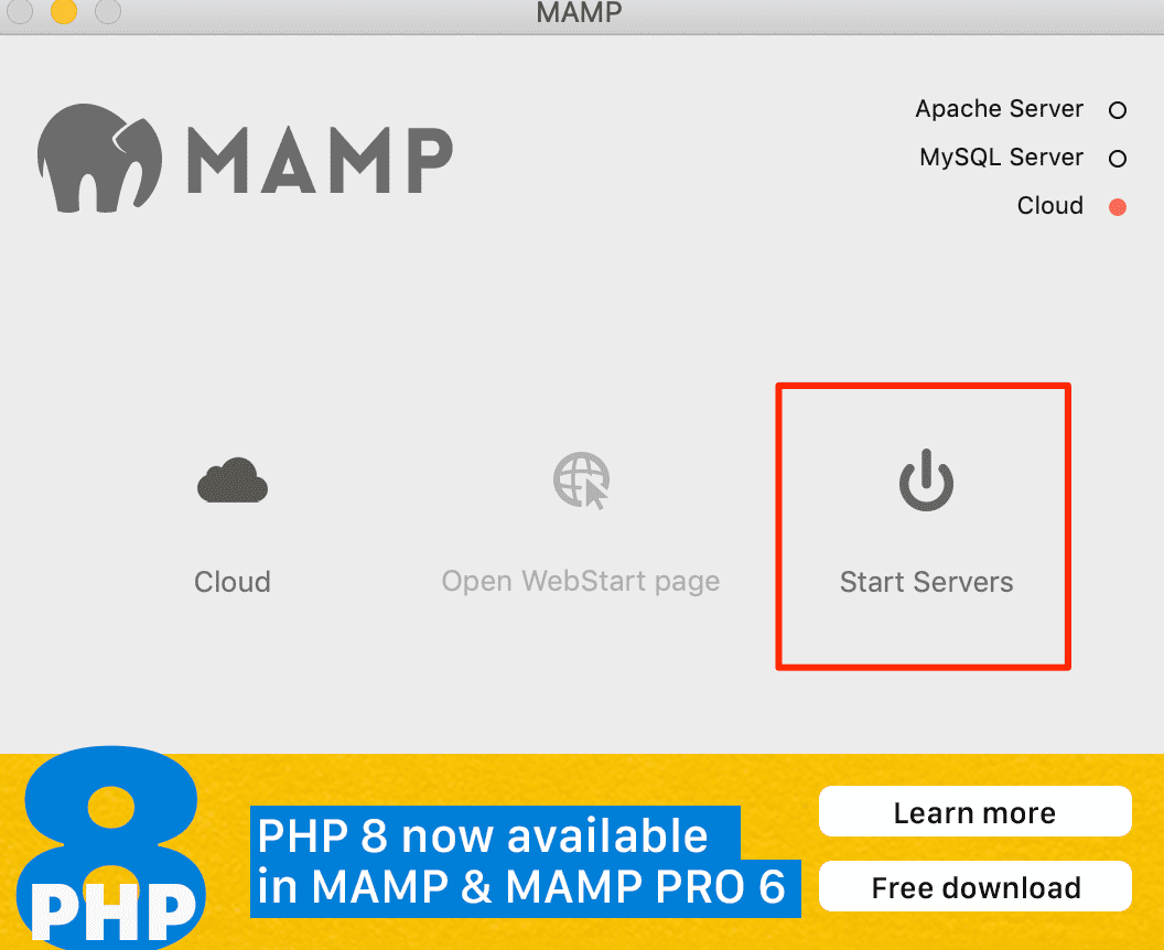 mampを再起動