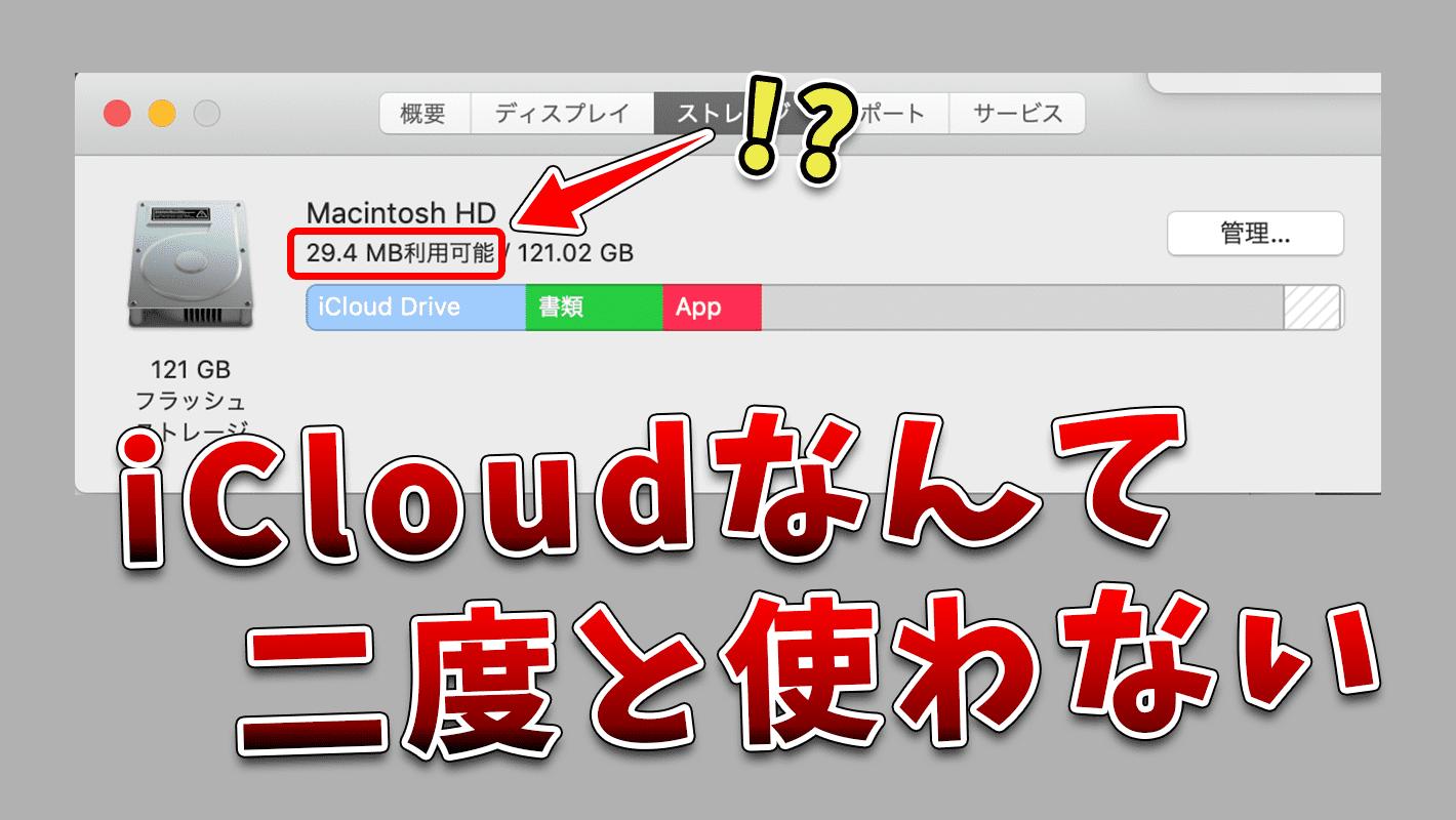 MacのiCloudが使いづらい上にクラッシュさせられたので二度と使わない