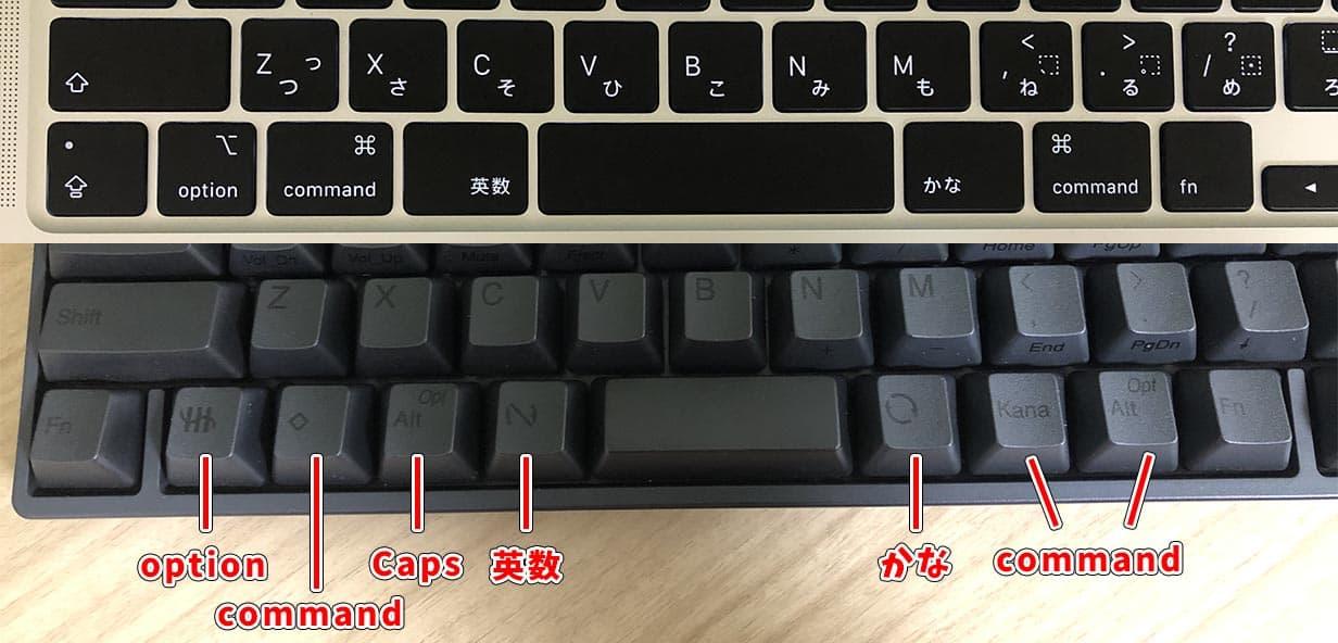 hhkbのキー配列がかなりMacに近づいた!