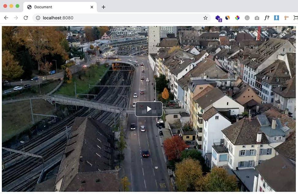 video.jsの再生ボタンを真ん中に配置
